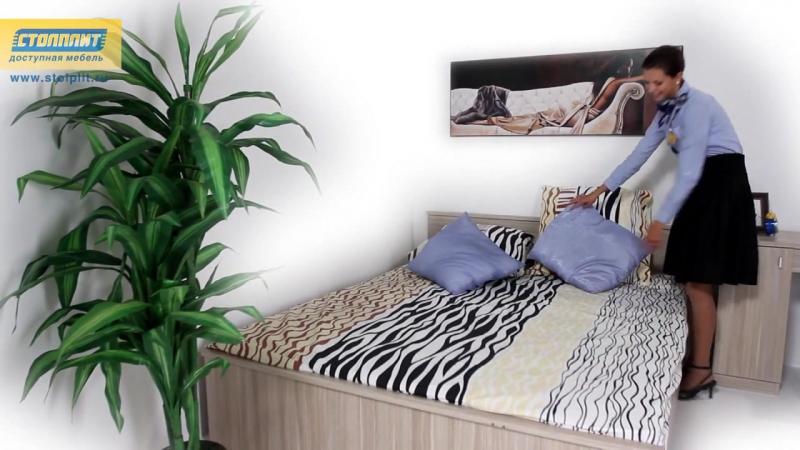 Спальня и гостиная «Деко» (Дуб Вайс)