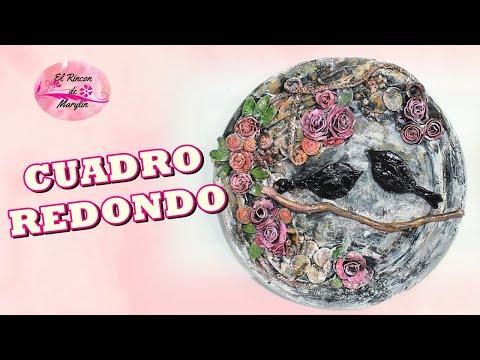 CUADRO DECORATIVO REDONDO EFECTO PIEDRA Y VINTAGE