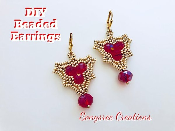 How to make this Dramatic Earrings💞Beaded Earrings💞Earrings with Rondelle beads