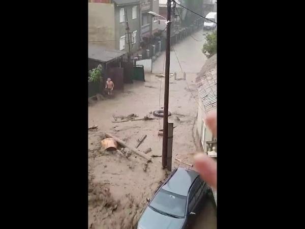Закарпаття Наслідки жахливої зливи в закарпатському Рахові. 17.08.2018