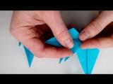 Объемная звезда из бумаги. Поделки оригами