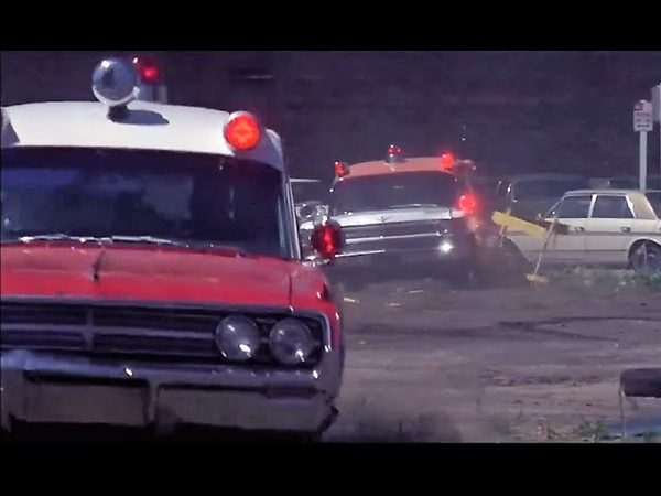 64 Caddy Ambulance chases 64 Olds Ambulance