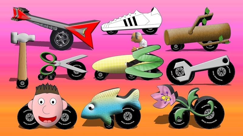 Spell The Strange Vehicles 2 - Vehicle Spelling Cartoon For Children