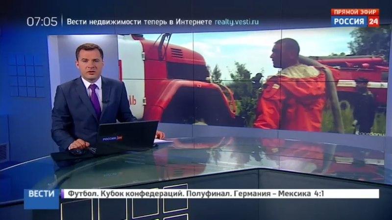 Новости на Россия 24 • Лесной пожар в районе Чернобыля вызвал резкое повышение уровня радиации