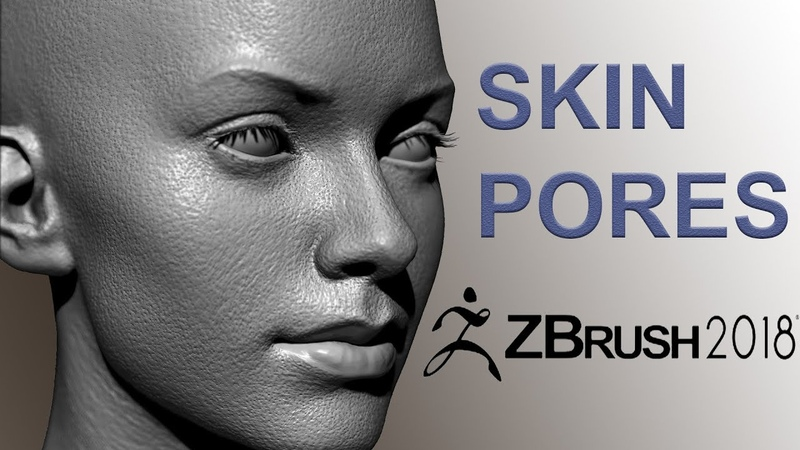 Easy Zbrush - Creating Skin Pores in Zbrush 2018