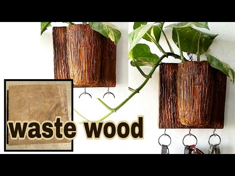 How to make wooden key holder very easy