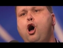 -Un talento increíble Verdadero Paul Potts Cantando Nessun Dorma en Britains Got Talent