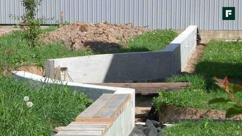 Убираем воду с участка с помощью подпорных стенок FORUMHOUSE