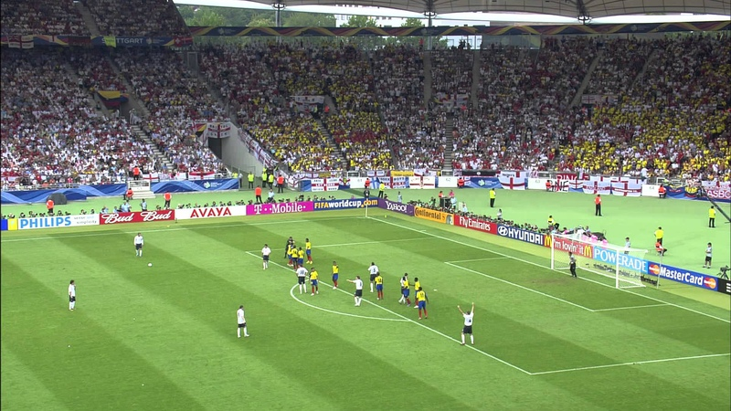 David Beckham's Free Kick Goal - England vs. Ecuador 2006 - SBS World Cup Shoot Out