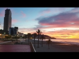 Video sunrise on Thursday, January 4, 2018 at Poniente beach in #Benidorm