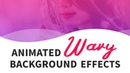Pure CSS Animated Wavy Background CSS Animation Effects