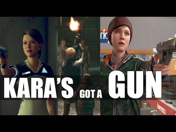 """Detroit Become Human - """"What Happens If"""" Kara Turns To The Dark Side With A Weapon In Hand"""