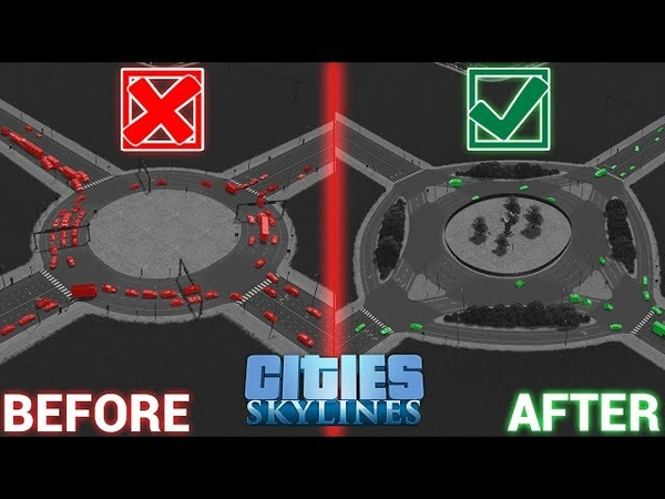 How to build the PERFECT ROUNDABOUT! [ENGLISH] | Cities Skylines Quick Tutorial | Nelvo
