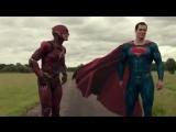Флэш и Супермен спорят кто быстрее   Отрывок из фильма Лига справедливости