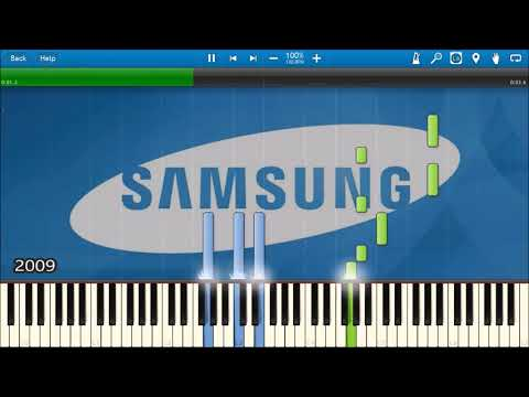 SAMSUNG MOBILE STARTUP SHUTDOWN SOUNDS IN SYNTHESIA