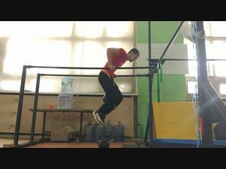 Тренировка брусья +48 кг