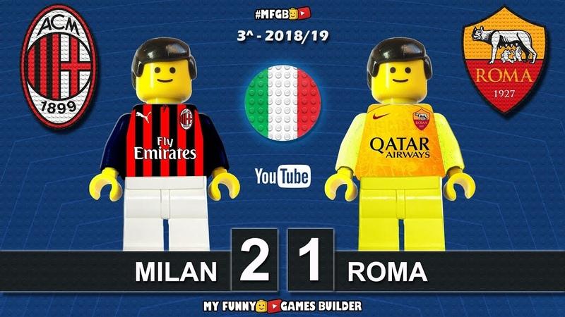 Milan Roma 2-1 VAR • Serie A 2018/19 (31/08/2018) All Goal Highlights Sintesi Lego Calcio Football