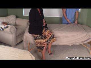 Son massaging mom 720