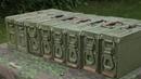 WWII History Reenacting - German Patronenkasten 34/41 Removing storage grease