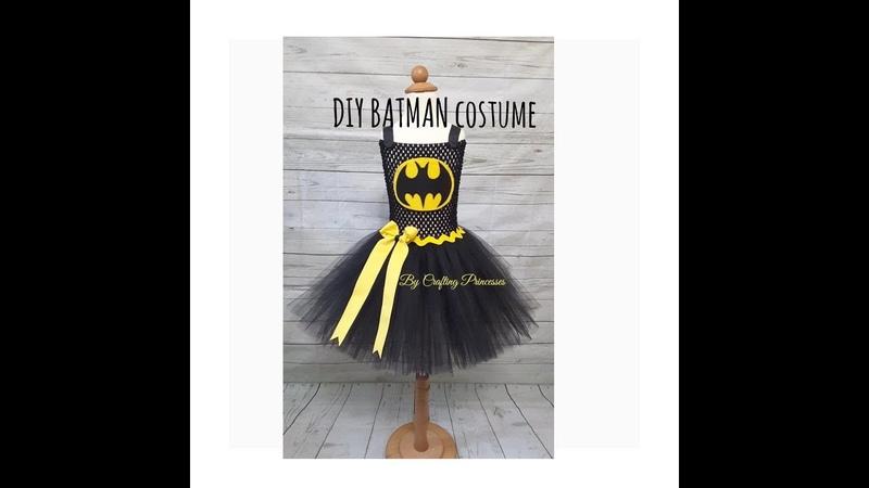 Super Hero Costume Series | DIY BATMAN Tutu dress | BATMAN Costume