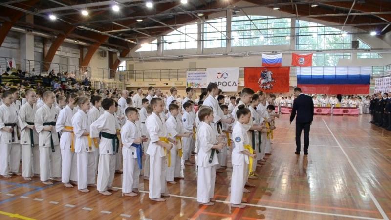 Открытие Чемпионата России по каратэ г Москва 19 05 18 г