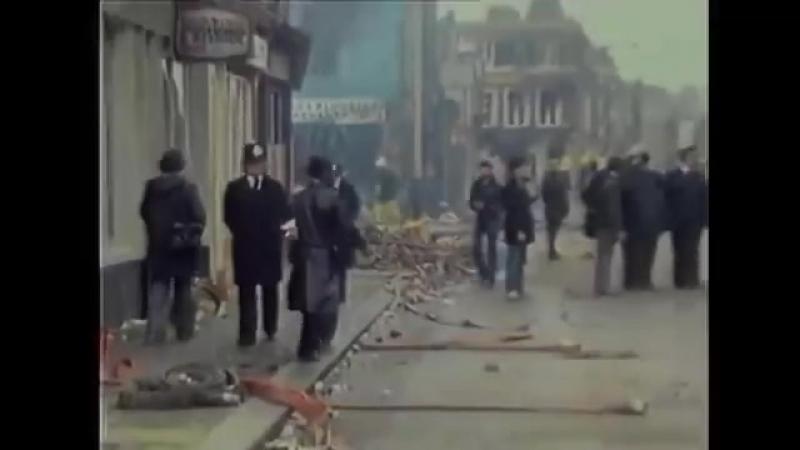 Joe Strummer isolated vocals. London Calling. Footage Brixton riots 1981.
