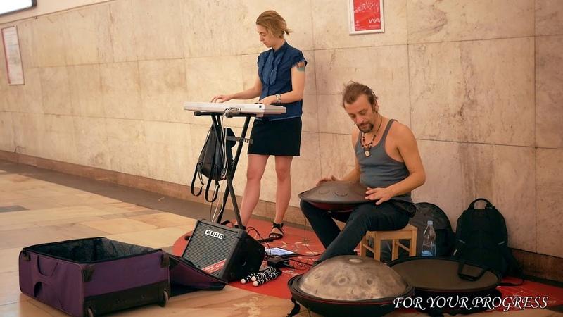 Ханг. Волшебно, музыка, Давид Сваруп, играет на ханге, в Метро, Москва. Hang Playing. Hang Drum