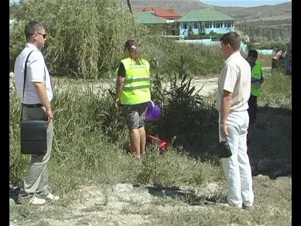 В Коктебеле ликвидируют незаконные врезки в канализацию.