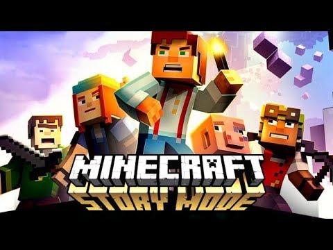 Квадратный мир Minecraft Story mode on PS4