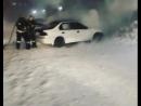 Ещё одна машина вчера загорелась возле Арены