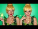 TINKERBELL TRANSFORMATION ✨ Tinkerbell Makeup DIY Costume Wig