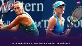 Petra Kvitova vs. Kiki Bertens   2018 Western & Southern Open Semifinal   WTA Highlights