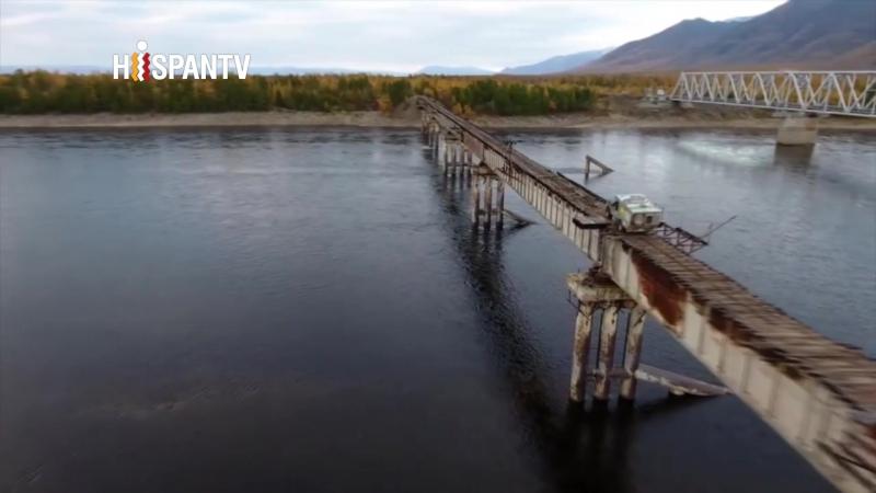 ¿Te atreverías a cruzar el puente más peligroso de Rusia? Mira estos 500 metros de puro riesgo.