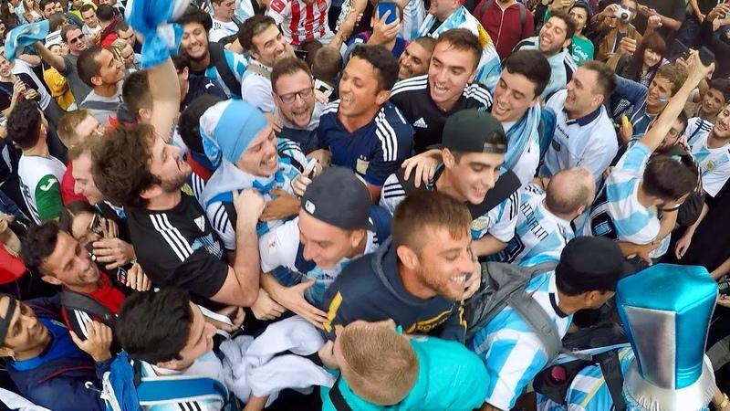 Аргентинцы в Москве. los fans de argentina en rusia 2018