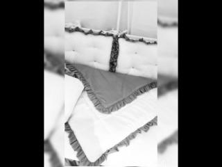 Комплект в кроватку Кристалл серый