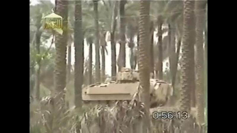 Ирак периода оккупации.Подрыв БМП М-2 Бредли на СВУ
