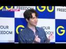 23.08.18 Донхан на открытии ивента Your Freedom от GU Korea