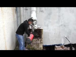 САМОДЕЛЬНЫЙ обогрев ПОКРАСОЧНОЙ камеры КАК НАГРЕТЬ ПРИТОК в морозы .ПРОСТО