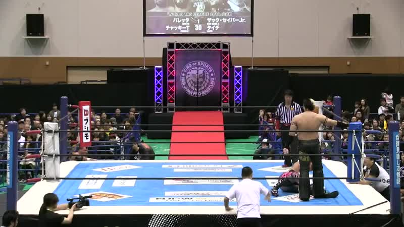 [My1] NJPW World Tag League 2018 (День 4) - Best Friends (Beretta Chuckie T) vs. Suzuki-gun (Taichi Zack Sabre Jr.)