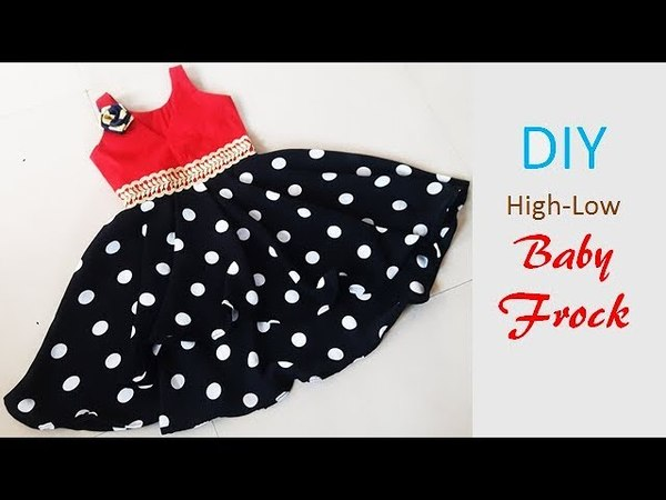 DIY Designer High Low Baby Frock Cutting And Stitching Tutorial