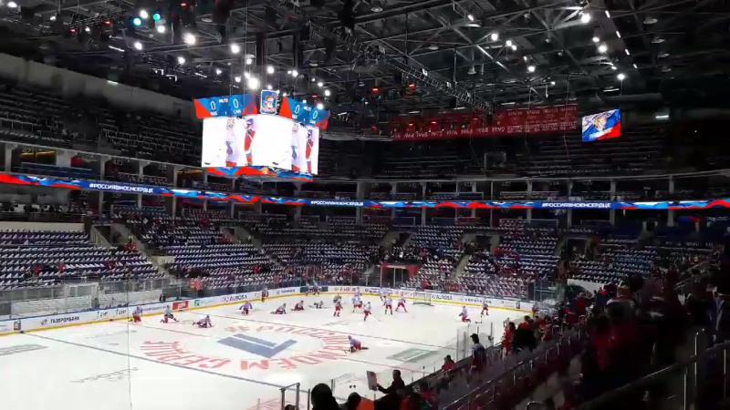 Сборная России провела раскатку в фиолетовой форме в рамках акции борьбы с раком
