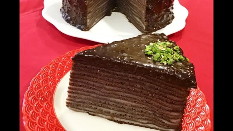 Çikolatalı Krep Pasta Bir Yiyen Bir daha Tadını Unutamıyor👉🏻bera tatlidunyasi