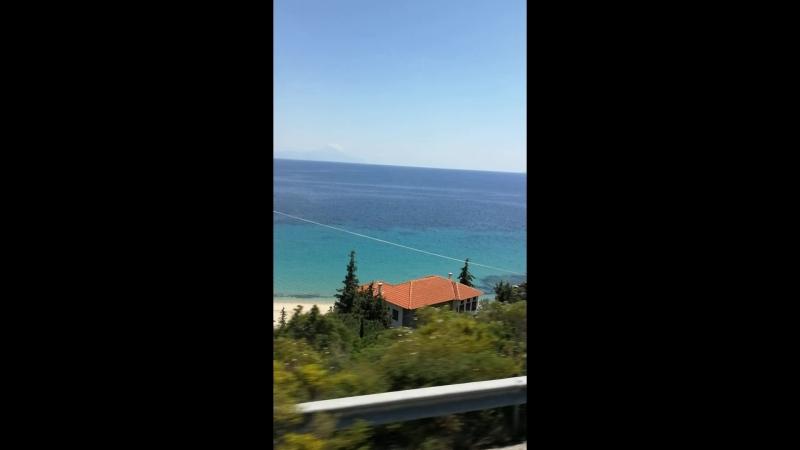 По дороге в отель Assa Maris 4* Ситония Греция