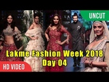 Lakme Fashion Week 2018 Day 04 FULL SHOW Sushmita Sen, Disha, Saif Ali Khan, Bipasha, Tamannaa