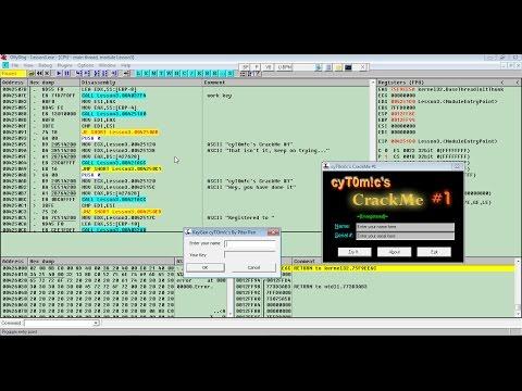 Взлом программ в OllyDbg Lesson3