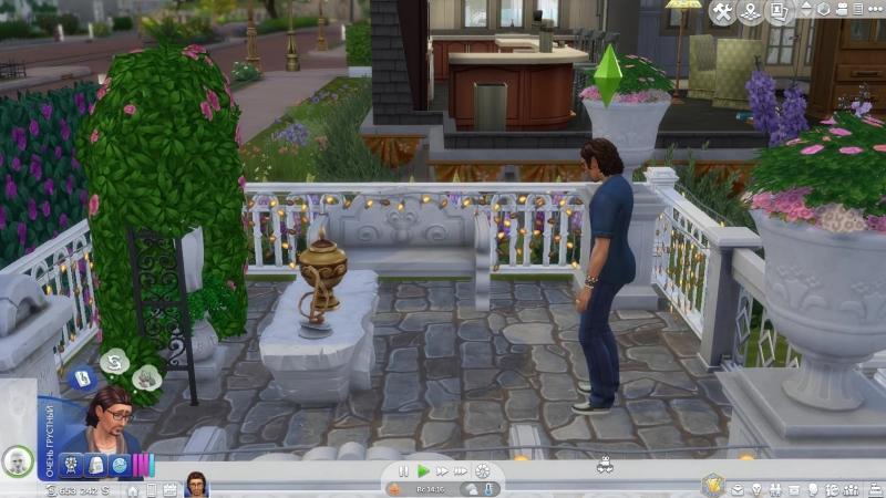 Sims 4. Скорбит по ушедшей в огне любви