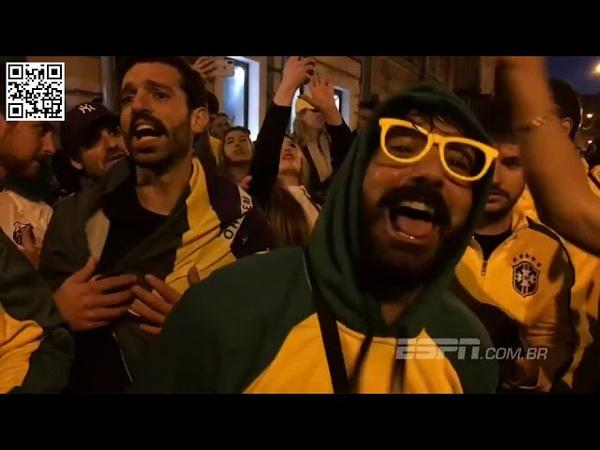 Na Copa do Mundo torcida organizada do Brasil tem cantos e 40 bandeirões conheça