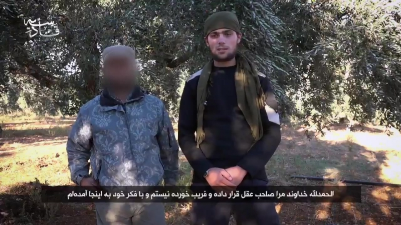 Syria Harakat Muhajirun Ahl as Sunna Iran part of HTS released a footage where the group mourns the death of a militant Mohaje