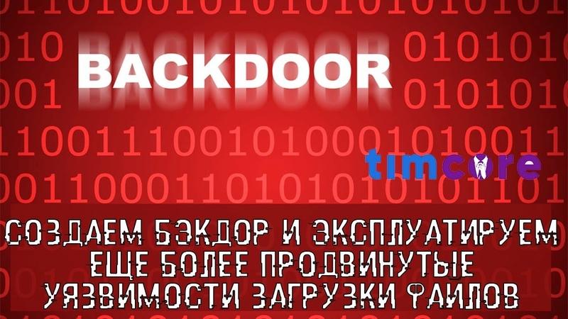 Создаем бэкдор и эксплуатируем еще более продвинутые уязвимости загрузки Файлов | Timcore
