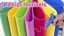 DIY 5 IDEIAS em EVA para VENDER ou presentear Artesanato EVA Compilação Segredos de Aline